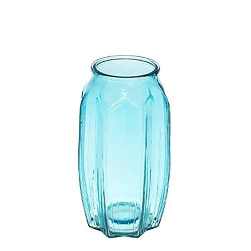 Cilinder Decoratieve vaas Grote Kristallen Glas Vaas AXZHYZ1906018 Home Decoratie Transparant Glas Vaas 8x22 cm Leven vaas Bloem Shop Boeket Doos Blauw