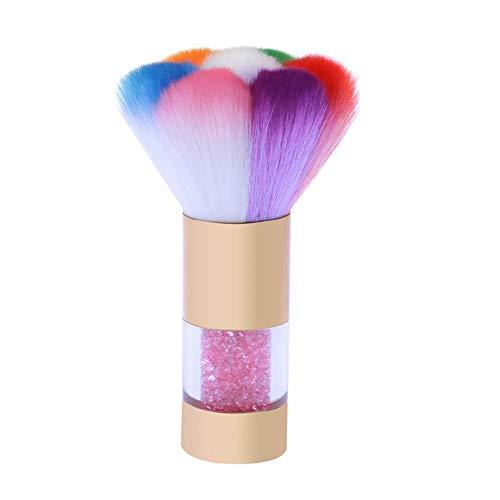 1pc Professional Nail Art Pinceau Poudre Acrylique Uv Gel Ongles Brosse Strass Poignée Clean Manucure Outil De Beauté Brosse À Ongles (d'or)