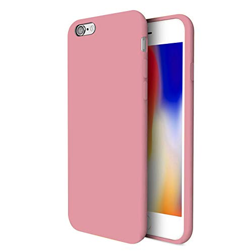TBOC Funda para Apple iPhone 8 [4.7'] - Carcasa Rígida [Rosa] Silicona Líquida Premium [Tacto Suave] Forro Interior Microfibra [Protege la Cámara] Antideslizante Resistente Suciedad