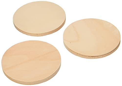 Baker Ross Posavasos de madera de calidad (Paquete de 10) Para pintar, decorar y personalizar con niños