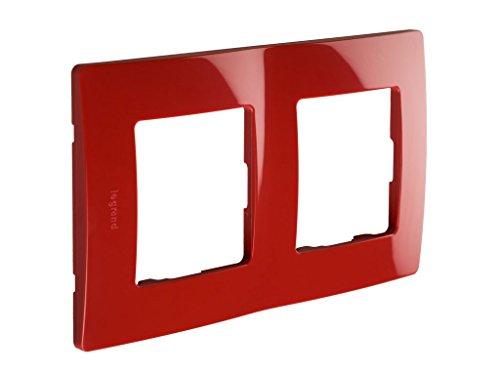 Legrand 397877Abdeckrahmen 2Simple für, rot