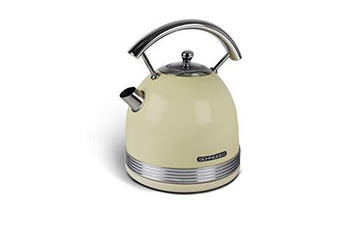 Schneider Wasserkocher Vintage 1,7 L kabellos creme