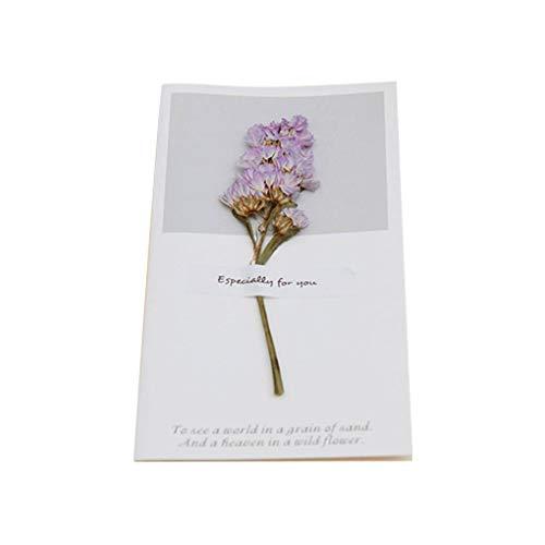 Censhaorme Hochzeit Getrocknete Blumen-Einladungen Postkarten Hochzeit Geburtstagsfeier Blumen Einladungen Karte, Blumen-Festival-Gruß-Karte