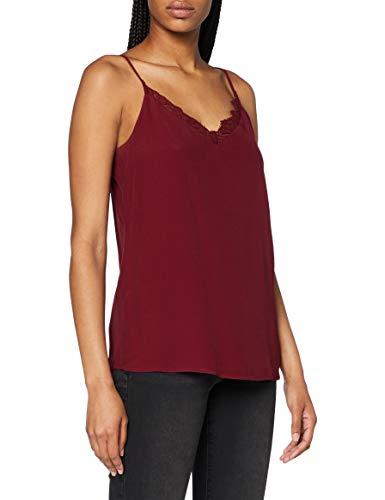 ESPRIT Collection Damen 080EO1F316 Bluse, 600/BORDEAUX RED, 42