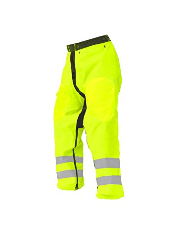 Forester Chainsaw Safety Chaps - Full Wrap Zipper - Safety Green (Regular (37') Fits Most 5'4' to 6' Tall)