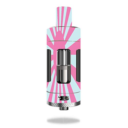 Decal Sticker Skin WRAP Pink and Teal Sunburst Flag for Kangertech Subtank Plus V2 Tank