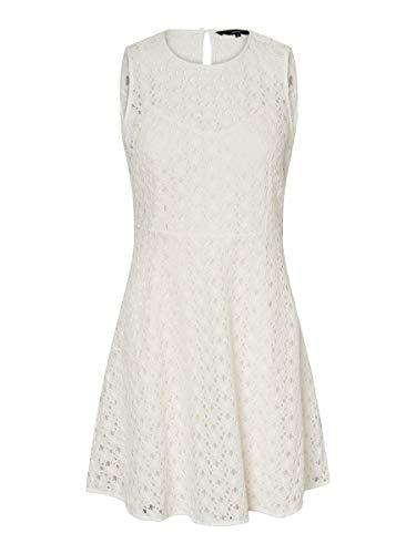 VERO MODA Damen Vmallie Lace S/L Short Dress Noos Formales Kleid, Snow White, M EU