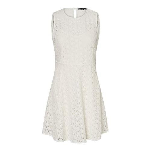 Vero Moda Vmallie Lace S/L Short Dress Noos Vestido Formal para Mujer a buen precio