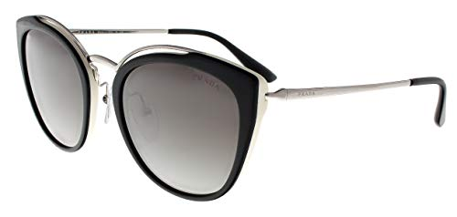 Prada 0PR 20US Black/Ivory/Dark Grey Mirror/Silver One Size