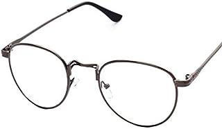 كوريان ستايل نظارات شمسية فينتاج خفيفة باطار دائري من المعدن فاشن بعدسات مسطحة للرجال وللنساء