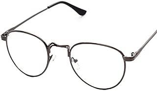 Korean Style Vintage Metal Round Frame Glasses Fashion Women Men Flat Light Eyewear