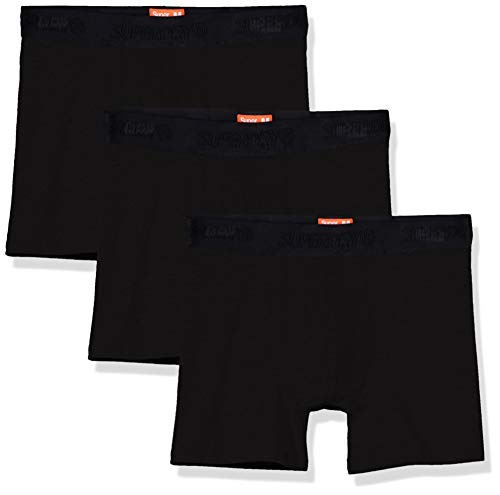 Superdry Herren Classic Boxer Triple Pack Boxershorts, Schwarz (Black Multipack I6W), X-Large