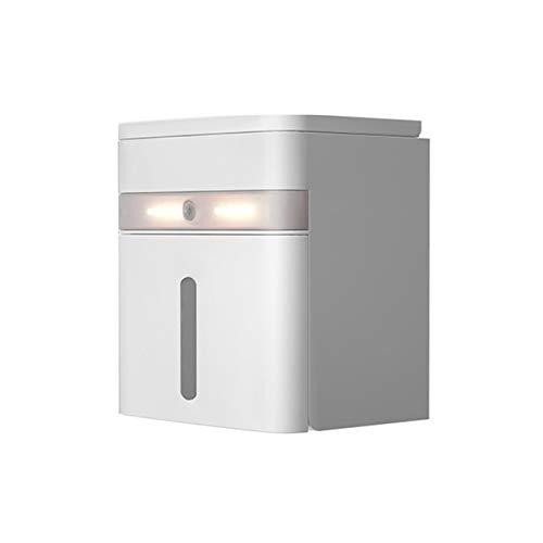 YXDS Lámpara de Escritorio Led Smart Tissue Box Lámpara de Escritorio Impermeable Luz Nocturna Multifuncional Creativa Iluminación de inducción Inteligente