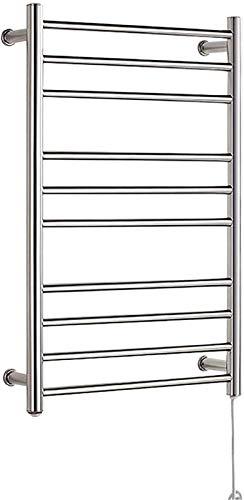 Toallero calefactado montado en la pared, Railleñas de toallas con calefacción Riegueras de toallas, calentador de toalla eléctrica montada en la pared con termostato de temporizador incorporado, toal