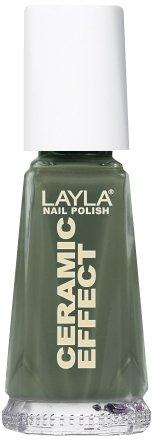 Layla Cosmetics 1243R23-035 Ceramic Effect Nagellack - khaki green, 1er pack (1 x 0.01 l)