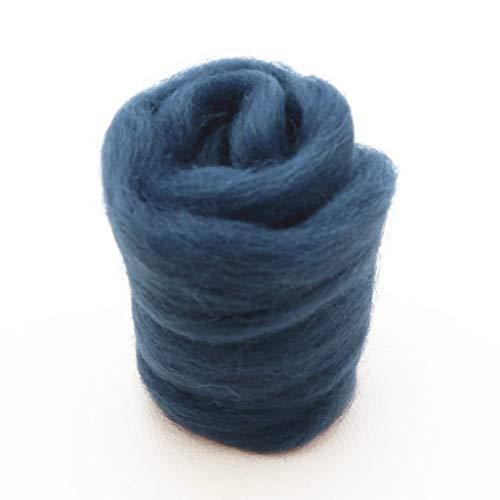 Qitao Wollfilz Farben 5g / 10g / 20g / 50g / 100g Filzwolle-Filz Stoff Filz Craft Spielzeug Filzwolle Handgemachte Filzen Craft (Color : 84, Size : 50g)