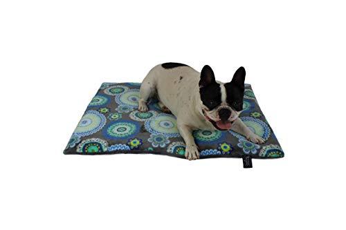 HS-Hundebett rutschfeste Hundedecke in 6 Größen I Qualität Made in Germany I waschbar bei 40° I weiche Kuscheldecke mit 4 cm Polster-Füllung (55 x 75 cm, Mandala Grün)