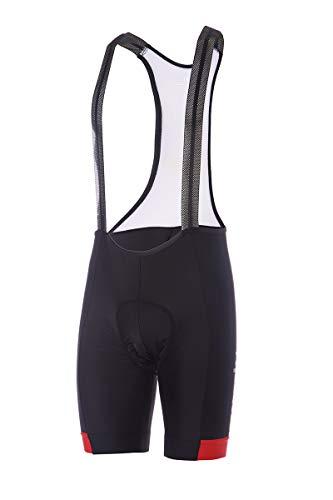 zerorh+ Sprint Bibshort, Abbigliamento Man Bike Bib & Pant Uomo, Black/Red, XXXL