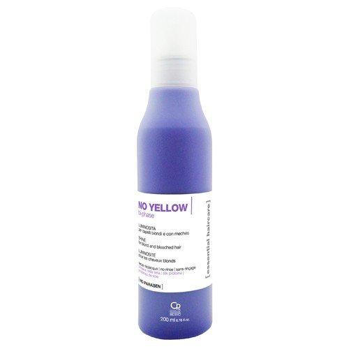 Essential Haircare - Spray Bifasico No Yellow - Trattamento Professionale Illuminante Antigiallo per Capelli Biondi e con Meches - Senza Risciacquo - 200 ml