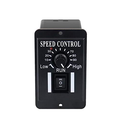 Controlador de velocidad de motor DC PWM Control de matorrales Generador ajustable 10-60V 6A con interruptor reversible