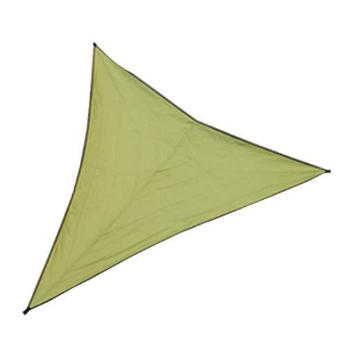 BAIYING Portátil Paño De Sombra, Proteccion Solar Hidratante Anillo De Tracción En Forma De D Fácil De Almacenar Triángulo Windsurfing por Cochera Invernadero Terraza (Color : Green, Size : 6X6X6M)