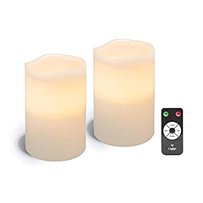 "4""D Signature Candles with Remote - 2 Pack"