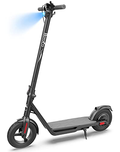 HOVSCO Electric Scooter for Adults, Powerful 600W Motor Up to 19 MPH, 24 Miles Long-Range Battery, 10-inches Fat Tires, UL Certified, Foldable and Portable