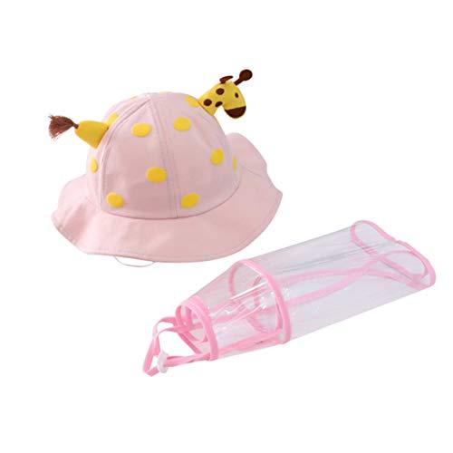 iClsoam Cappello Visiera Protettiva per Bambini Cappello da Sole Anti-UV Antipolvere con Visiera Trasparente Adatto a Bambini di 1-3 Anni