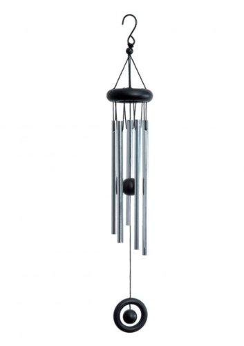 Windklangspiel, 5 Röhren, silb./schwarz, ca. 40 cm