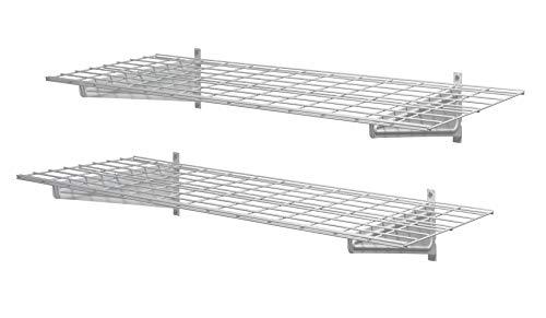 """Muscle Rack HWS4818-2PKW Heavy-Duty 48"""" 2 Pk Wall Shelf, 11"""" Height, 48"""" Width, 18"""" Length, (Pack of 2)"""