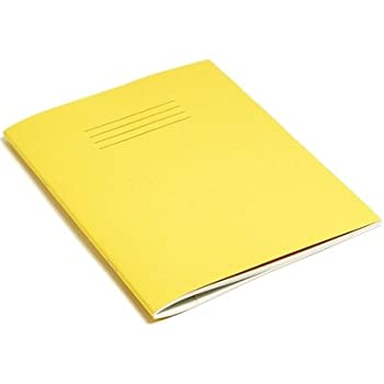 10 x YELLOW SCHOOL EXERCISE BOOKS 9 X 7 80 Page 5mm Squares
