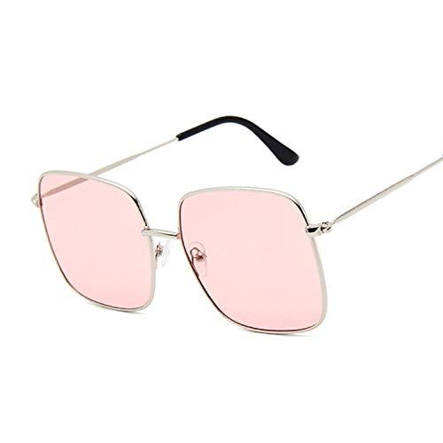 IRCATH Gafas de Sol cuadradas de Moda para Mujer, Gafas de Sol para Mujer, Hombre, Mujer, Vintage, Marco Grande, aleación, Colorido, Espejo oceánico, Adecuado para Conducir en la playa-C11