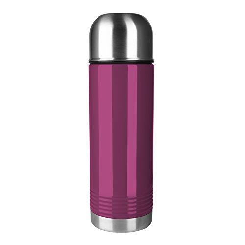 Emsa 515209 Senator Isolierflasche, Thermosflasche, mobiler Kaffeebecher, 700ml, Thermobecher, Isolierbecher, Safe Loc Verschluss, himbeere