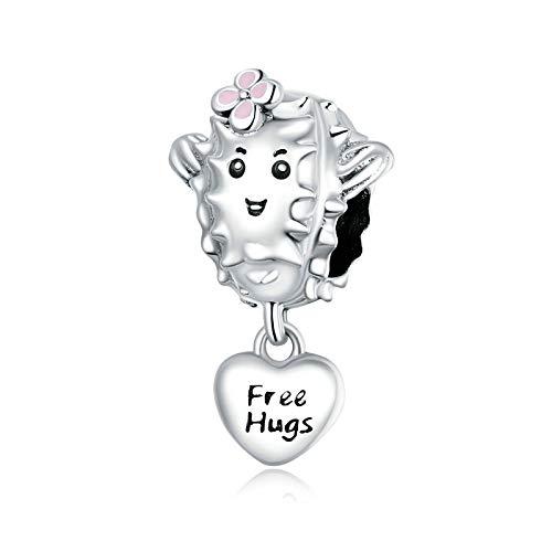 DFHTR Lady Charm Lovely Suculentas Beads 925 Sterling Silver Charm para Pulsera De Plata Original O Brazalete DIYJewelry Make