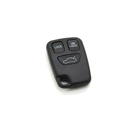 Volvo - Carcasa con mando a distancia para llave de coche compatible con Volvo S40, V40, S70, V70 y C70 (3 botones)