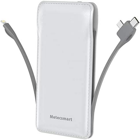 Portable Charger with Built in Cable Metecsmart 10000mah Power Bank Portable Charger Type C product image