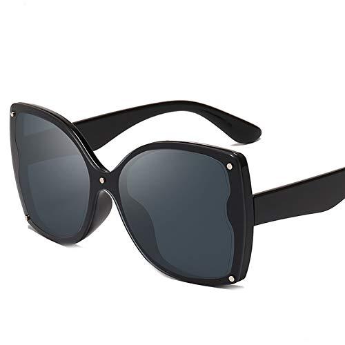 SXRAI Gafas de Sol de Gran tamaño Gafas de Sol de Moda para Mujer Gafas Femeninas Uv400,C1