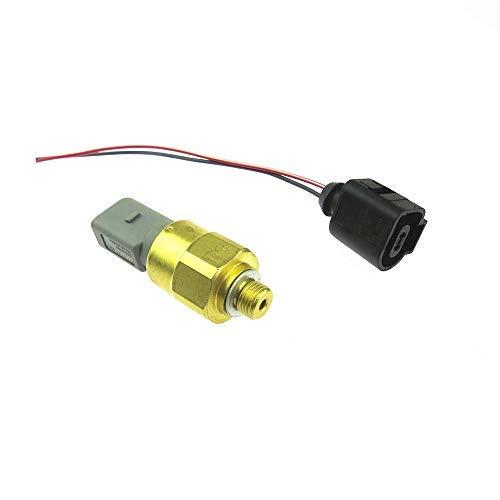 1 Unidades interruptor sensor de presión de aceite + adaptador de cable enchufe para golf MK4 Polaris A3 TT Seat Leon 1J0919081 1J0973702