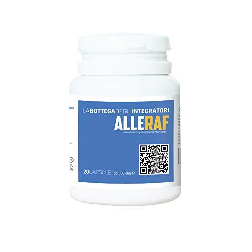 Quercetina, Bromelina e Acetilcisteina. Rafforza il Sistema Immunitario Riduce i Sintomi del Raffreddore, Naso Chiuso, Muco, Sinusite e Catarro ALLERAF 20 Capsule La...
