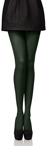 Antie Medias Panty en Microfibra Lencería Sexy Mujer 40 DEN (Verde Oscuro, S (Talla Fabricante: 2))