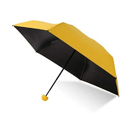 Kshavi Nylon Fabric Mini Travelling Folding Pocket Size Umbrella with Capsule Cover (Multicolour)