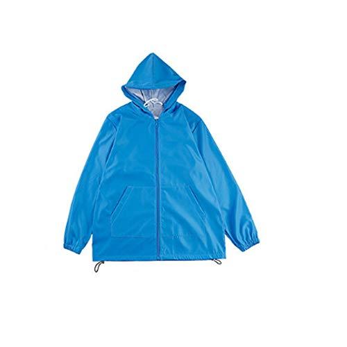 Persoonlijke Hooded beschermende kleding, Isolatie pak met masker, ademend, lichtgewicht, stofdicht Kleding, Anti-Spray,Blue,XS