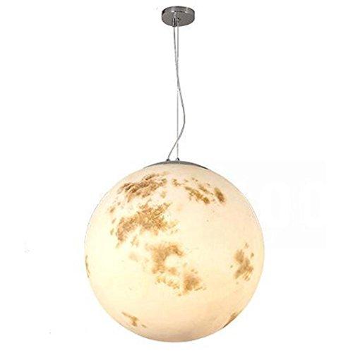Atmko®Suspension Luminaire Moderne Lustre Contemporain Nordique Simplicité Style Boule Ronde Lune Acrylique Abat Jour Pendentif Plafonniers Pour Salon, Bar, Café, Restaurant
