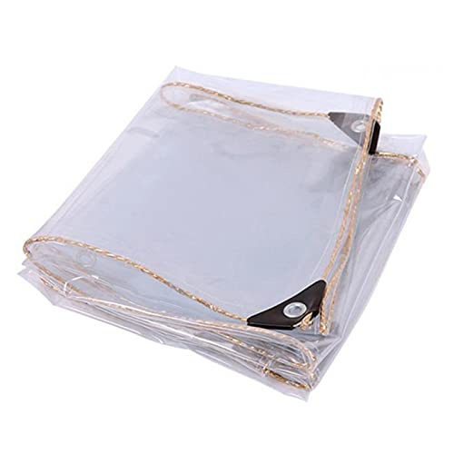 ALGFree Impermeable Claro Lona Transparente, Transparente Plástico Cubretodo con Ojales, Tarea Pesada Lona de Vinilo Transparente a Prueba de Polvo Cubierta Resistente Al Clima Frío