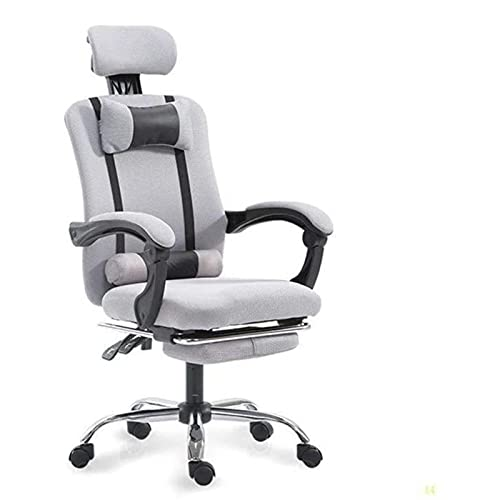 KMDJ Office Chair Office with Armrests Desk Game Rotation Heavy Ergonomic Design Cushion and Reclining Back Support