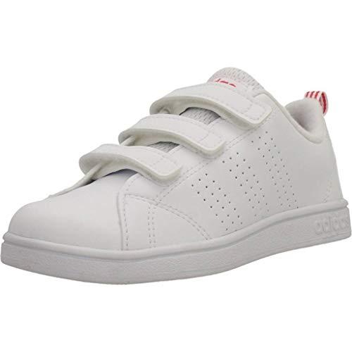 adidas Vs ADV Cl Cmf C, Scape per Sport Outdoor Unisex-Bambini, Bianco (Ftwwht/Ftwwht/Suppnk Ftwwht/Ftwwht/Suppnk), 30 EU