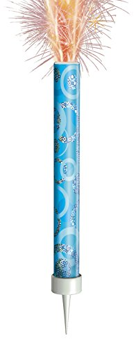 Unique Party 37328 - Glitz Blue Birthday Fountain Candles, Pack of 3