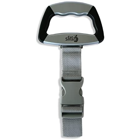 EatSmart Precision Voyager Digital Luggage Scale w/ 110 lb. Capacity & SmartGrip, 1 Count (Pack of 1), Gray