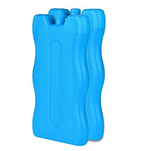 Aurora Store 4 x Tavolette Ghiaccio Blu Extra Slim 250 ml Mattonelle ghiaccioli Piatte 16 x 10 x 1,4 cm Borsa frigo Termica Frezzerino Icepack refrigerante Mare, Picnic, Campeggio, Vacanze
