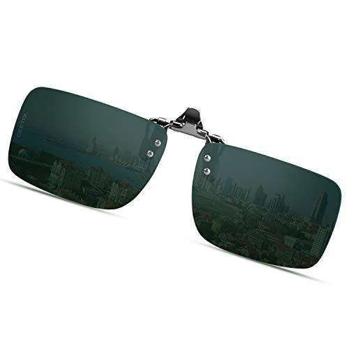 偏光サングラス UV400 紫外線カット 超軽量 スポーツサングラス 跳ね上げ式 前掛けクリップ式サングラス ドライブ/野球/自転車/釣り/ランニング/ゴルフ/運転 男女兼用 偏光グラス